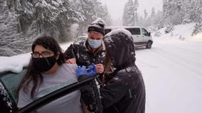 'Impromptu clinic:' Health workers stuck in snow give drivers vaccine