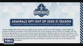 Admirals' president says decision to opt out of 51st season was painful