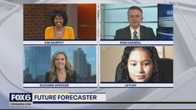 Future Forecaster: 9-year-old Laylah helps with the weather