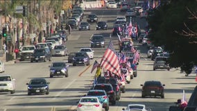 Pro-Trump group holds their own version of a parade in Pasadena