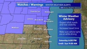 Winter weather advisory takes effect for part of SE WI