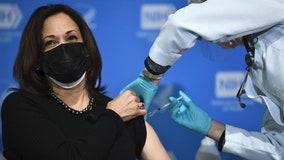 Vice President Kamala Harris, second gentleman Doug Emhoff receive 2nd COVID-19 vaccine