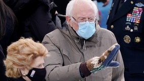 Bernie Sanders' mittens: Vermont senator's Inauguration Day outfit lights up social media