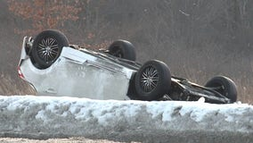 Driver extricated from vehicle after striking snowbank in Milwaukee