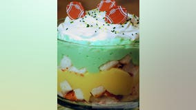 Green & Gold Trifle: Gameday snacks are a necessity during any football season