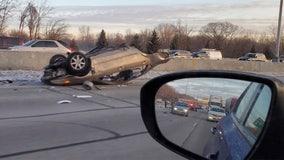 2 injured in crash on I-94 near Milwaukee/Waukesha county line