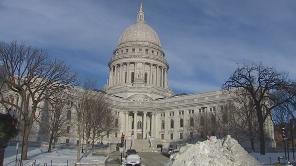Madison man arrested for 3rd OWI after driving up Capitol stairs