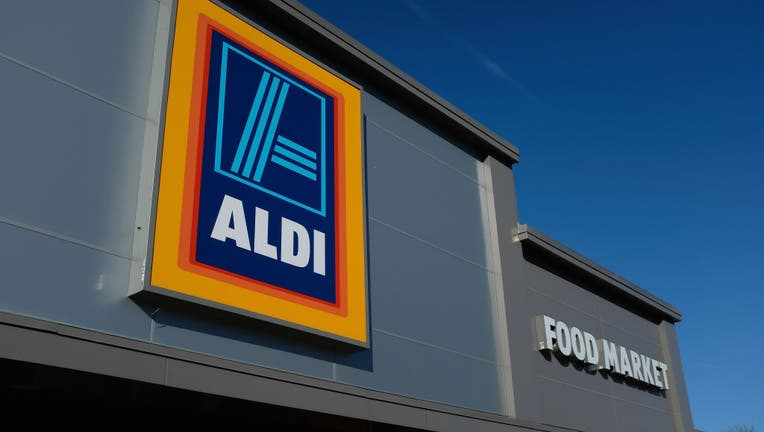 An Aldi discount grocery store stands on Dec. 28, 2017 in Edgewood, Maryland. (Photo by Sean Gallup/Getty Images)