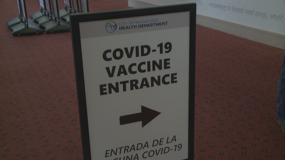 Wisconsin Center COVID-19 vaccine clinic