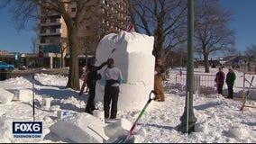 Lake Geneva hosts US National Snow Sculpting Championship