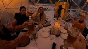 Outdoor dining continues despite sub-zero temperatures