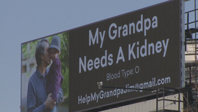 'Grandpa needs a kidney:' River Hills man hopes I-43 sign stands out