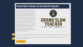 Know a 'Grand Slam Teacher?' Brewers want to hear about them