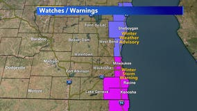 Winter storm warning, advisory issued through Tuesday afternoon