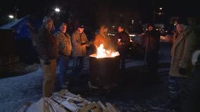 Group braves dangerous temps to raise money for homeless vets