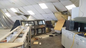 Roof of gas station collapses; snow, construction may be to blame
