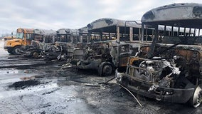 Fire damages 6 Burlington Area School District school buses, shed