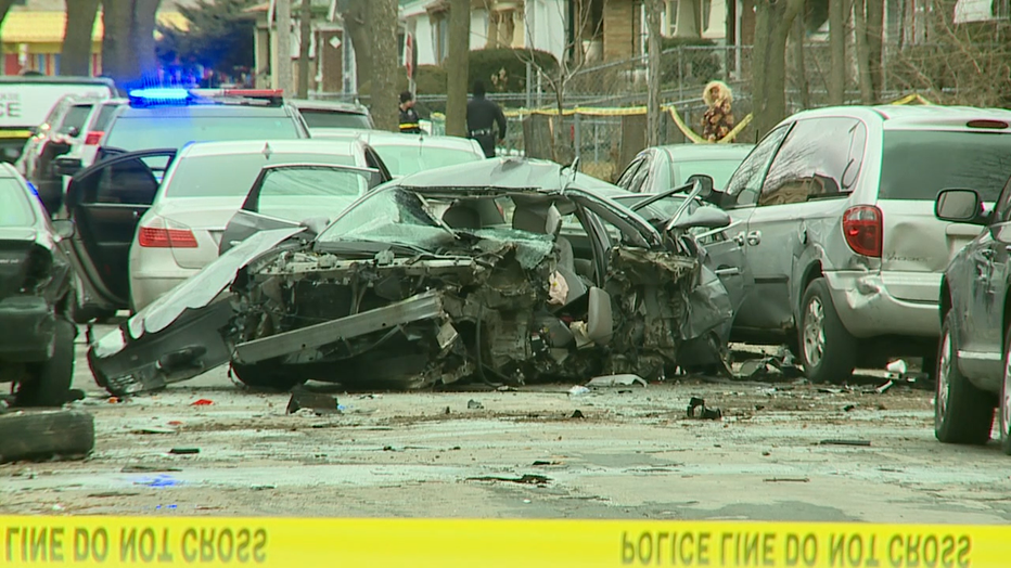 Crash at 37th and Locust, Milwaukee