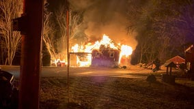 Fire damages unoccupied farmhouse in Yorkville, no one injured
