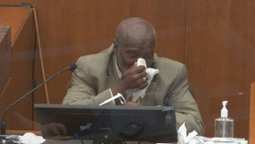 Witness in Chauvin trial breaks down in tears after watching Floyd arrest video
