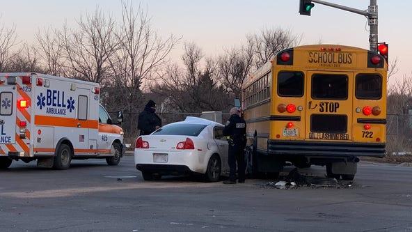 Milwaukee police investigate crash involving school bus near 7th and North