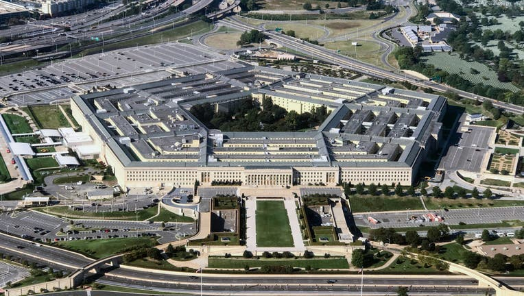 FILE - Aerial view of the Pentagon building photographed on Sept. 24, 2017.