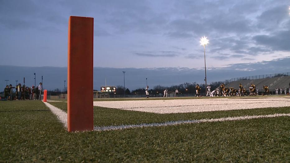 high school football pylon