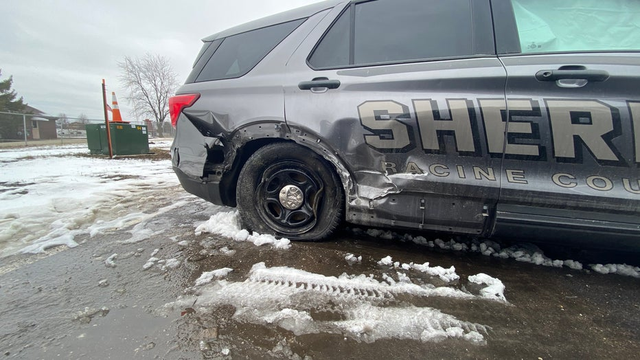 Racine County squad, tow truck struck by vehicle while on scene of crash