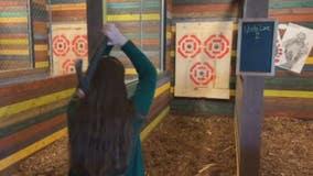 Sheboygan bar features axe throwing
