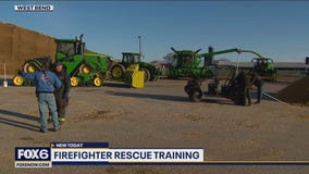 Firefighter training for agriculture rescues