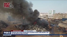 Milwaukee Fire Department responds to recycling plant fire