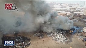 MFD fights large recycling plant fire on city's south side