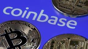 Coinbase stock jumps in Nasdaq debut