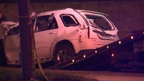 1 seriously injured after fleeing traffic stop, crashing into another vehicle