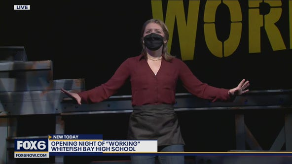 It's opening night for the Whitefish Bay HS theater and their performance of 'Working'