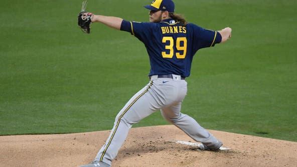 Burnes whiffs 10 in 6 innings, Brewers blank Padres 6-0