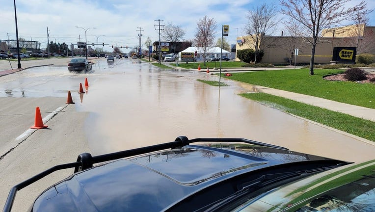 Water main breaks at 74th and Layton, Greenfield
