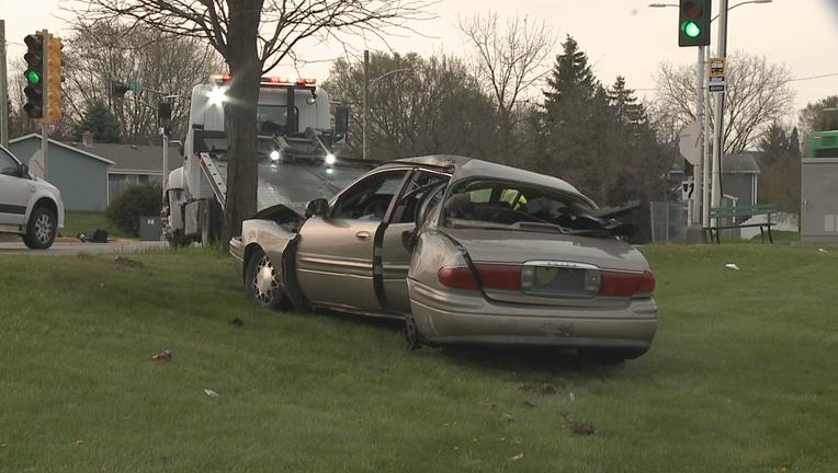 Crash at 91st and Good Hope, Milwaukee