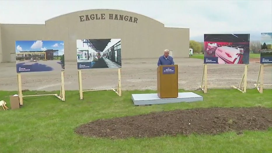 Groundbreaking of expansion of EAA Aviation Center