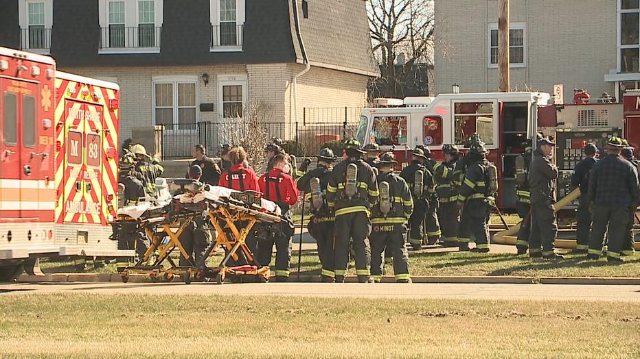 Firefighters battle fire at Brown Deer apartment complex