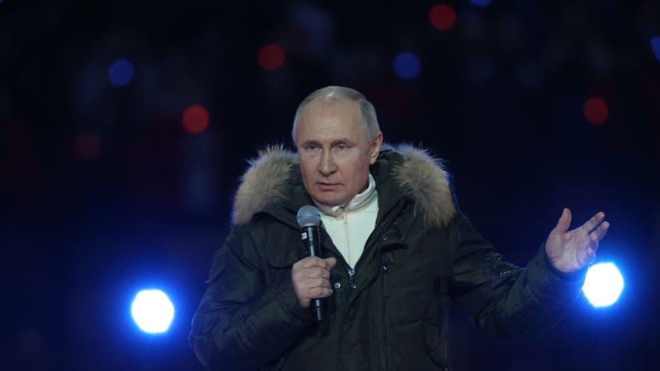 Putin Attends Concert For 7th Anniversary Of Crimea Annexation
