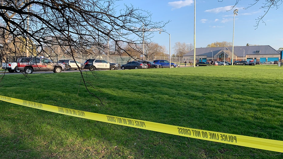 Law enforcement at the scene of a fatal Sherman Park shooting