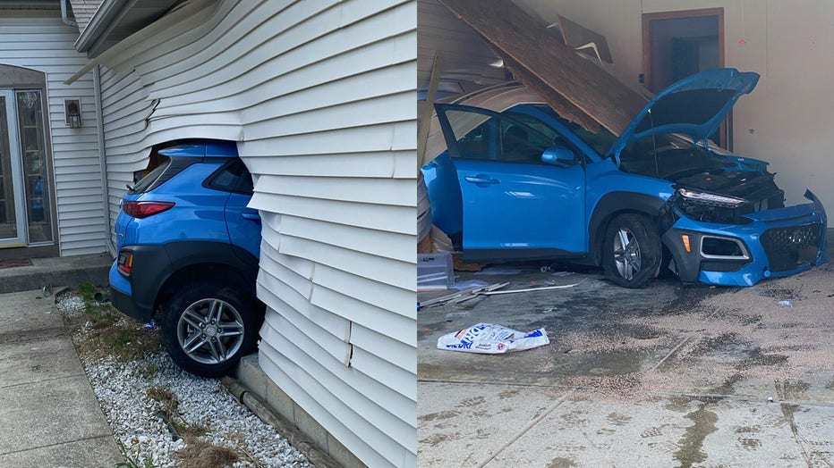 SUV crashes into home at 13th and Puetz, Oak Creek