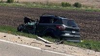 Driver hospitalized after Yorkville crash