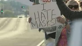 Protest against Mequon school mask rules