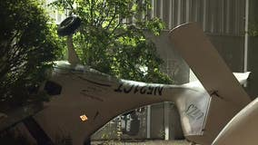 Plane crashed in Racine, hit tree and building