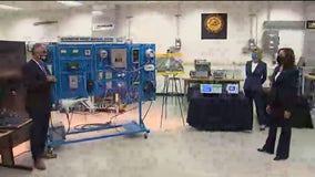 VP Harris tours UWM clean energy lab