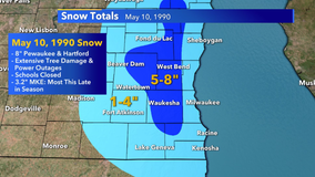 """Remember the May 1990 snowstorm? Up to 8"""" of snow in SE Wisconsin"""