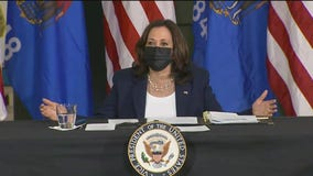 Vice President Harris participates in a round table discussion at UWM