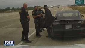 Tesla driver 'asleep' in Kenosha County, cited